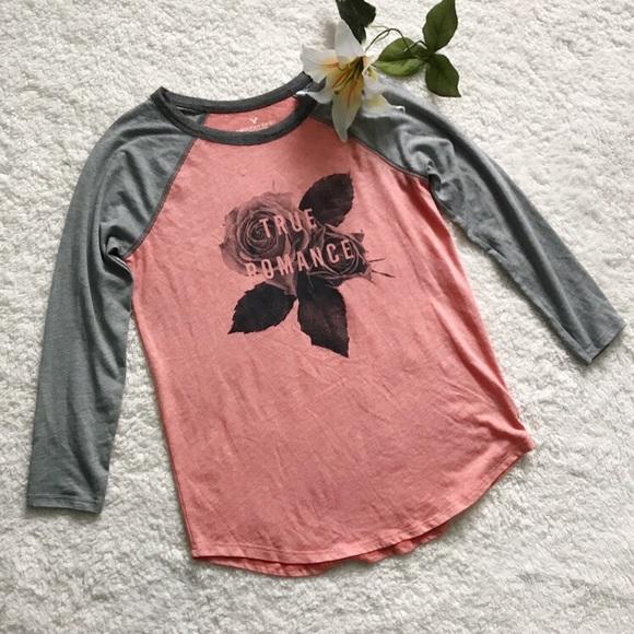 ee6c8a743 American Eagle Outfitters Tops - American Eagle True Romance Raglan T-shirt  B2